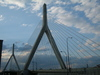 The Leonard P. Zakim bridge in all its weird-looking glory.